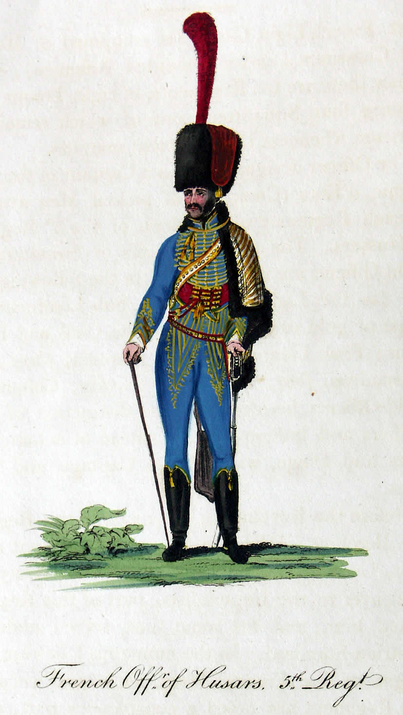 Officier, 5e Hussards, 1808